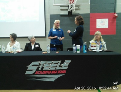 April 20, 2016 Career Day at Steele Accelarated High School Roanoke Tx