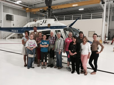September 12, 2016- Chapter tours FW police Aviation Dept at Meacham